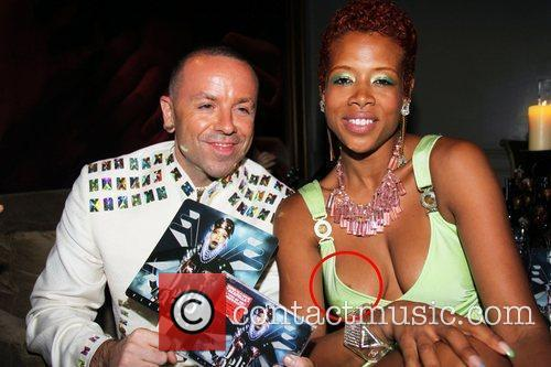 Kelis has a slight wardrobe malfunction at the...