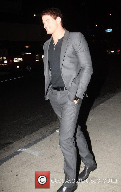 Kellan Lutz on a night out with a...