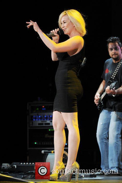 Kellie Pickler performs at the Cruzan Amphitheater in...