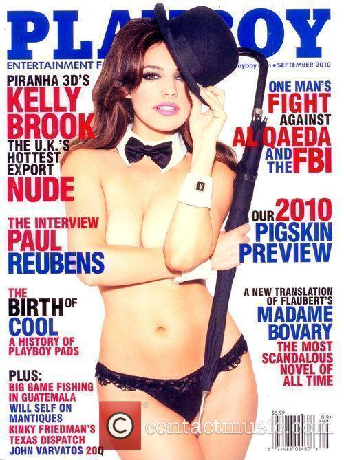 On the September 2010 cover of Playboy magazine