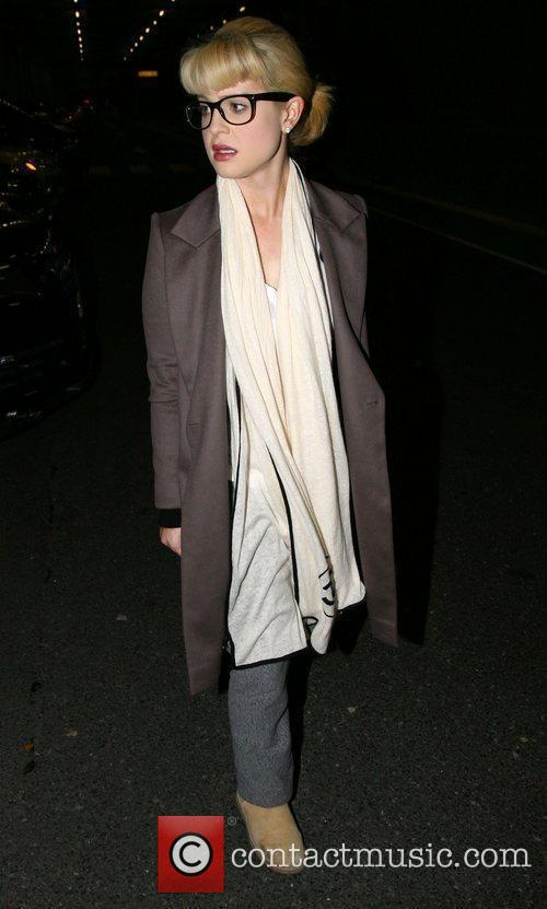 Kelly Osbourne arriving at Heathrow after a long...