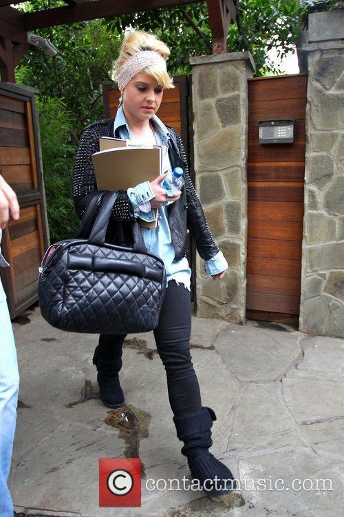 Kelly Osbourne leaving a studio after her vocal...
