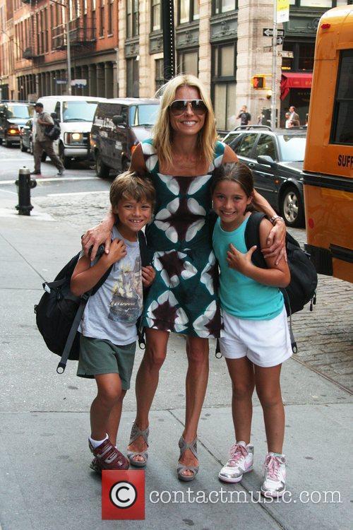 Runs errands with her children Joaquin Consuelos and...