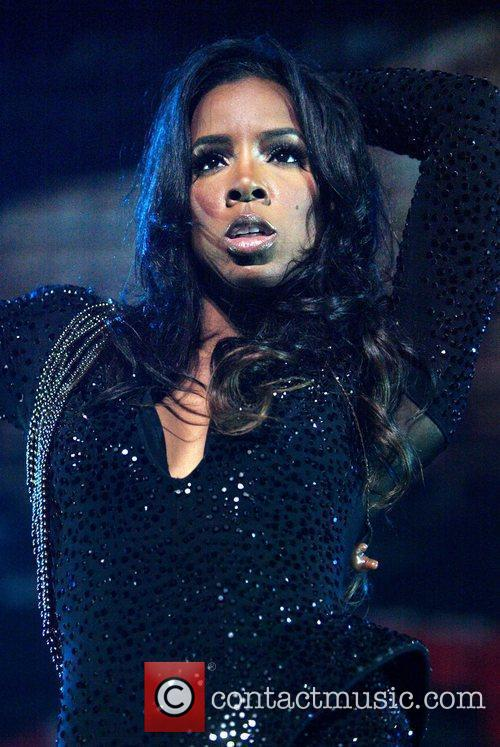 Kelly Rowland  performing live in concert as...
