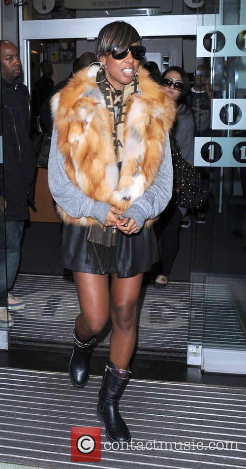 Kelly Rowland leaving the BBC Radio 1 Studios...