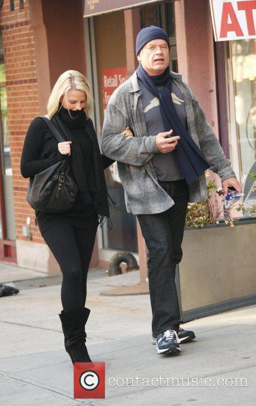 Kelsey Grammer and his pregnant girlfriend Kayte Walsh...