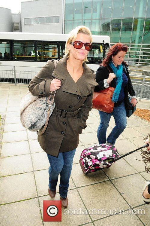 Kerry Katona at Manchester Airport Manchester, England