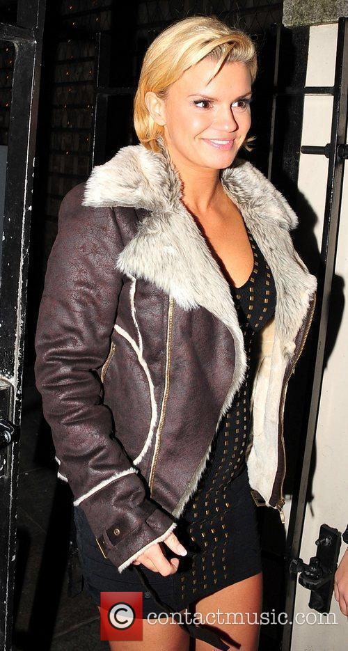 Kerry Katona out and about on the first...