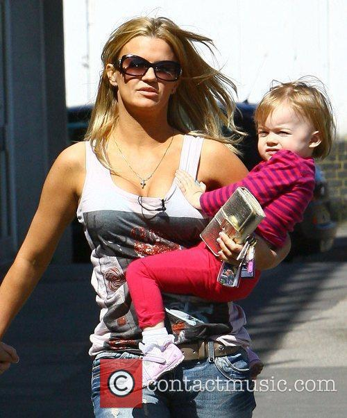 Kerry Katona taking her daughter Heidi to the...