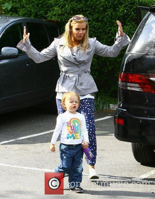 Kerry Katona with her children Max and Heidi,...