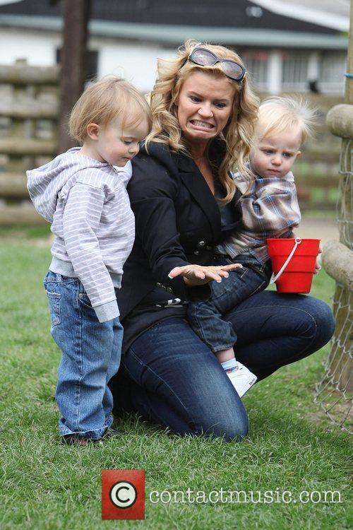 Kerry Katona visits Christmas Tree farm with her...