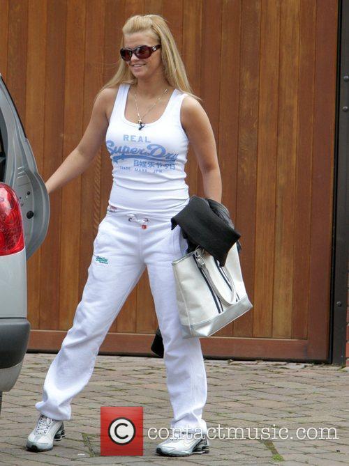 Kerry Katona on her way to the gym...