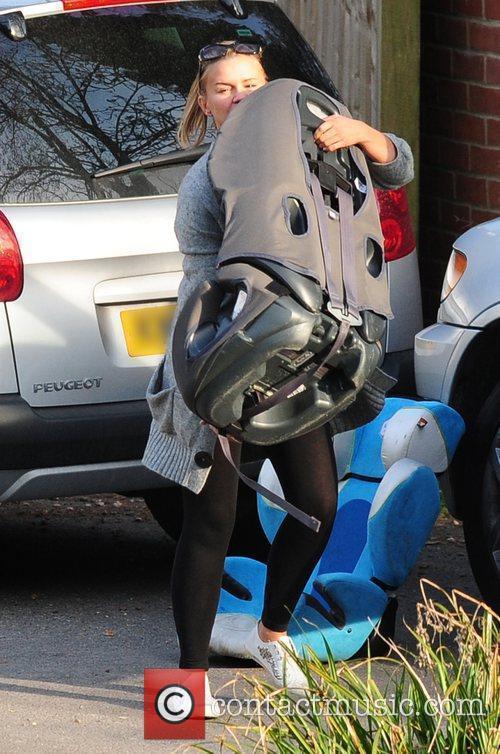Kerry Katona returning to her new house after...
