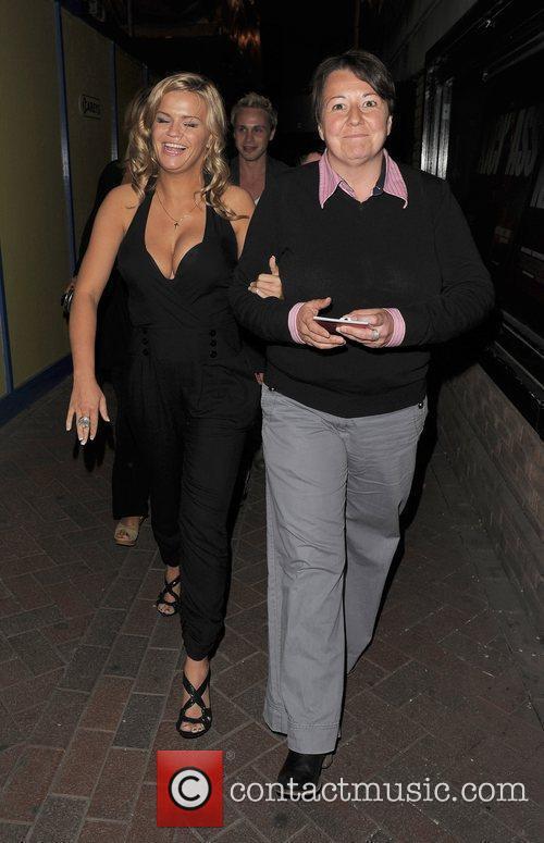 Kerry Katona leaving the UK film premiere of...