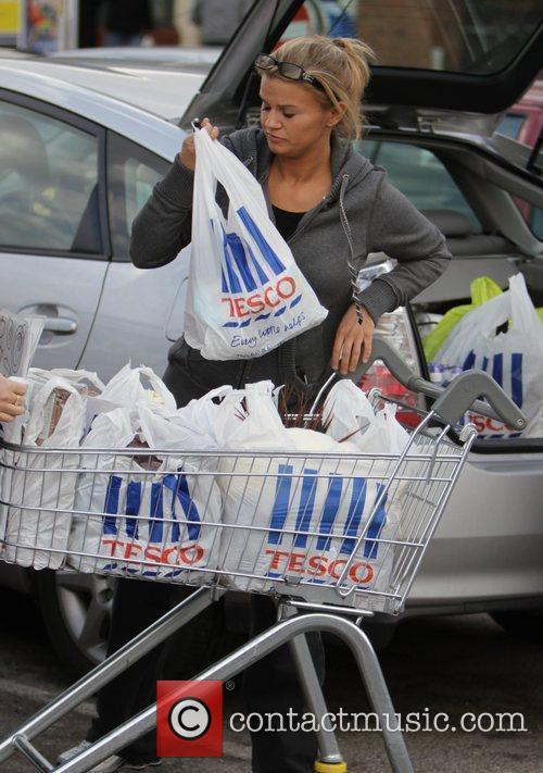 Kerry Katona  after shopping at a Tesco...