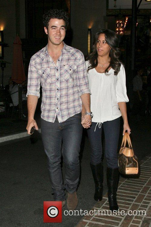 Kevin Jonas and his new wife Danielle out...