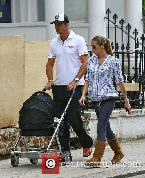 Kevin Pietersen and Jessica Taylor walking to a...