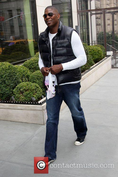 Former American football player walking in Soho after...