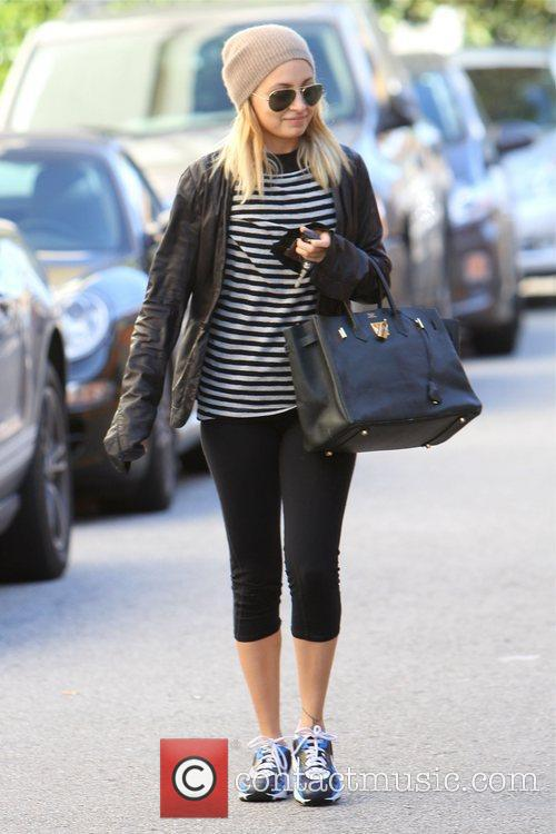 Nicole Richie is seen leaving a gym in...