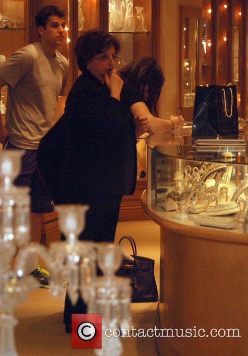 Khloe and Robert Kardashian shop at Gearys store...