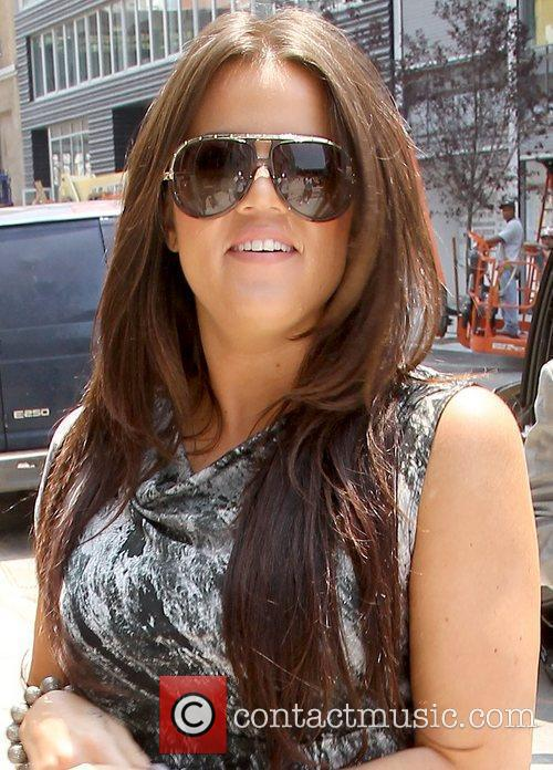 Khloe Kardashian leaving a doctor's office in Manhattan...