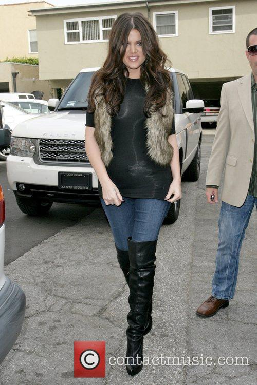 Khloe Kardashian arriving at Famous Cupcakes in Beverly...