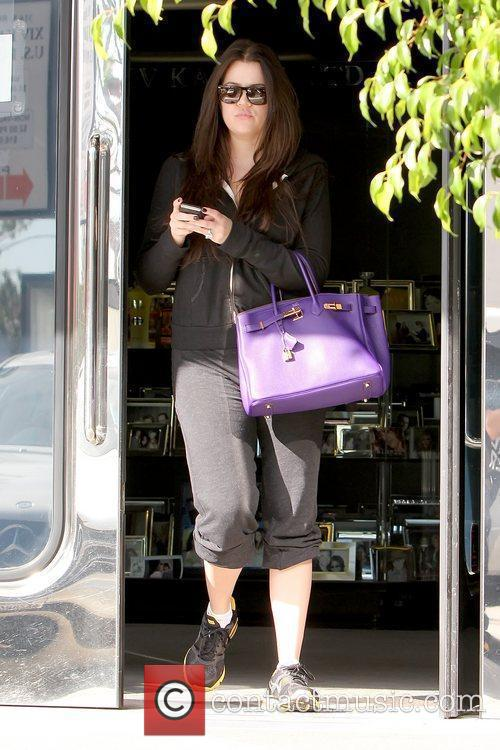 Khloe Kardashian leaving XIV Karats, Ltd. in Beverly...