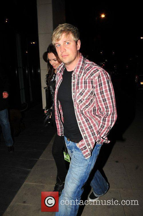 Kian Egan with his girlfriend Jodi Albert return...
