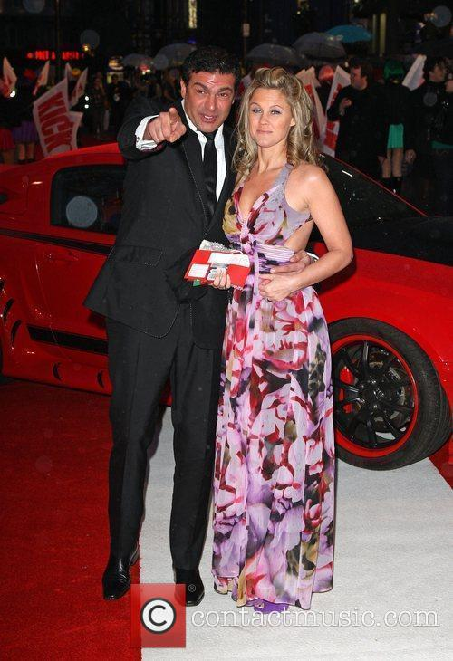 Tamer Hassan and wife 'Kick-Ass' UK film premiere...
