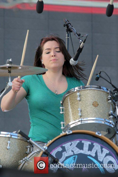 Caitlin Kicking Daisies perform live during the South...