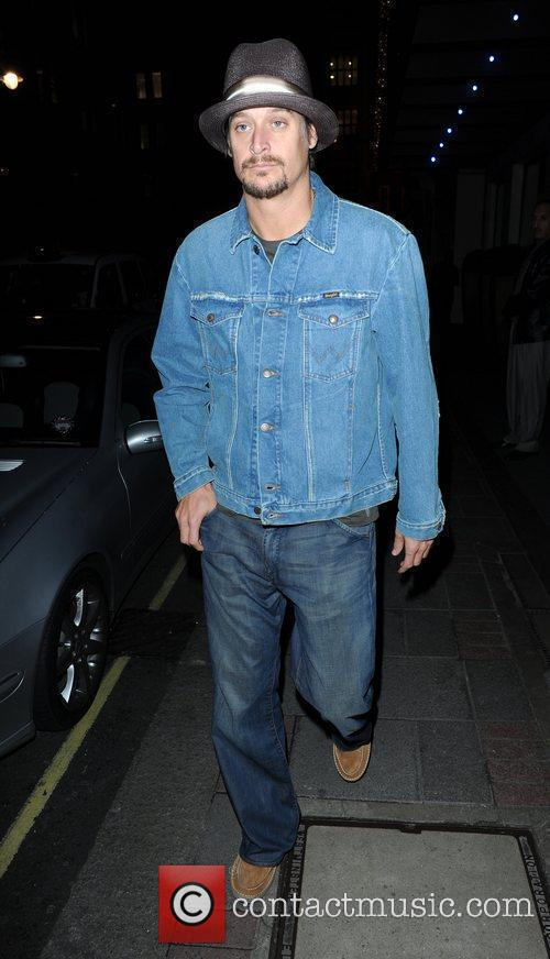 Kid Rock out and about wearing a denim...