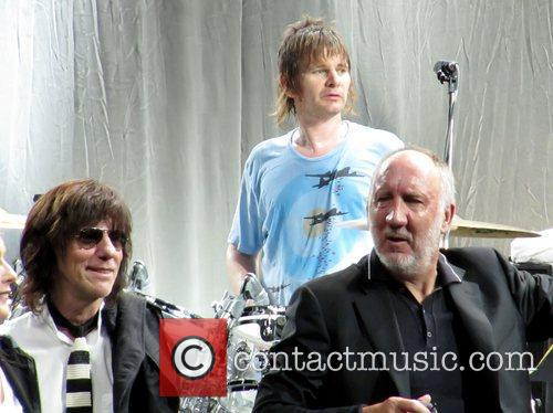 Jeff Beck, Pete Townshend and Zak Starkey