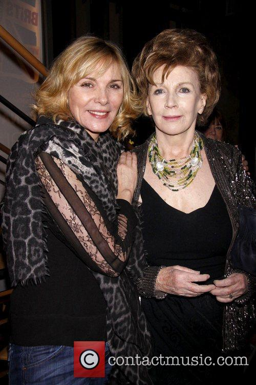 Kim Cattrall and playwright Edna O'Brien Opening night...
