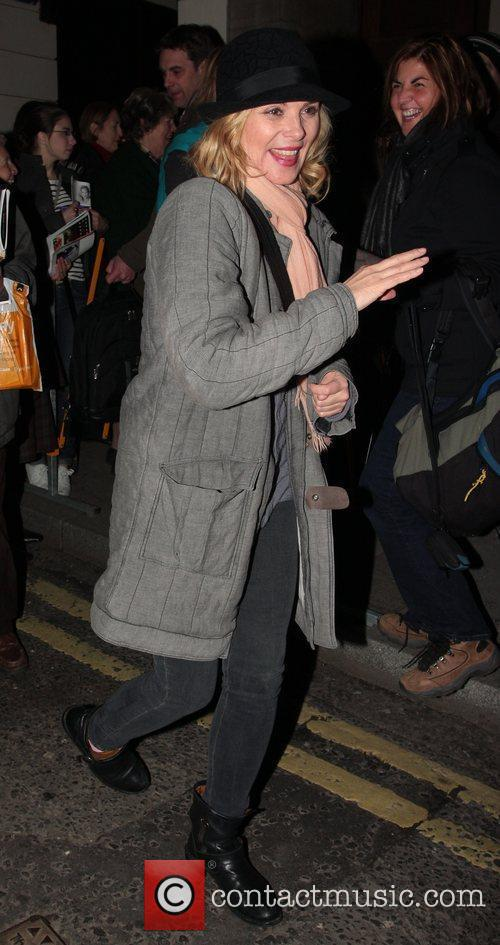 Seen leaving The Vaudeville Theatre after her performance...