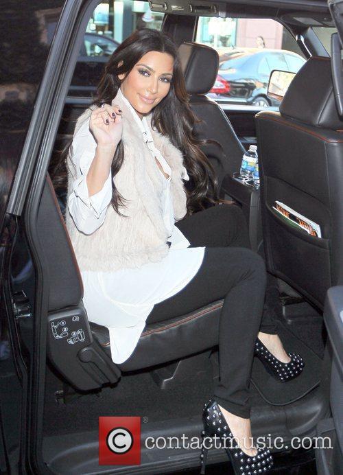 Reality star Kim Kardashian visits a medicial building...