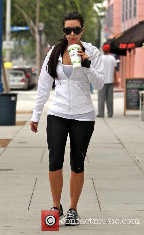 Grabs a healthy drink after visiting the gym