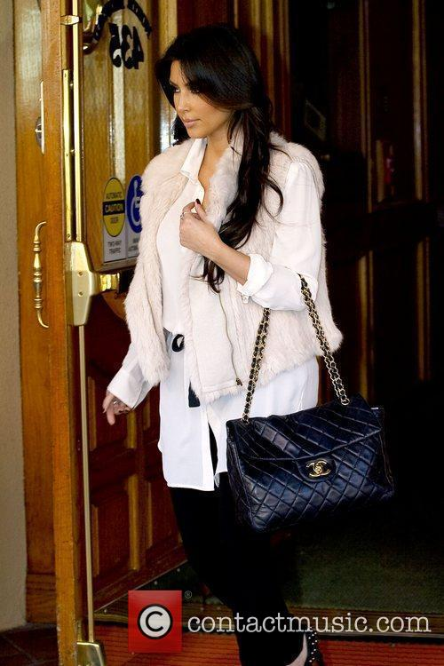 Kim Kardashian leaving a medical building in Beverly...