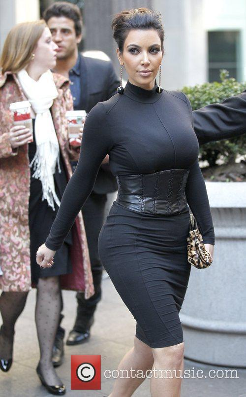 Kim Kardashian out and about in New York...