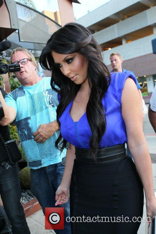 Kim Kardashian arrives at Crustacean restaurant in Beverly...