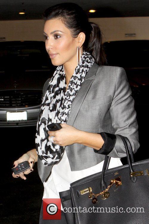 Kim Kardashian leaving a medical building after visiting...