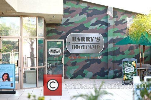 Barry's Boot Camp Kim Kardashian arrives at 'Barry's...