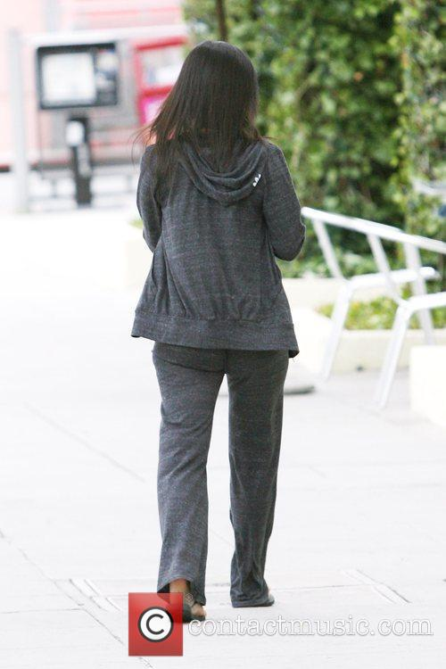 Kim Kardashian, Wearing Sweatpants and Picks Up Body Factory Smoothies In Beverly Hills 5