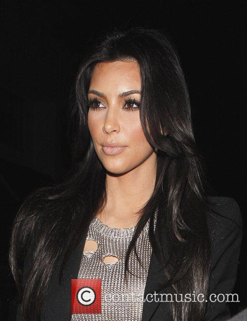 Kim Kardashian leaving Mr Chow restaurant with a...