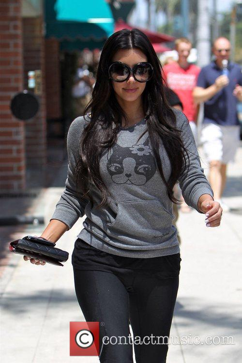 Kim Kardashian departs a nail salon after having...