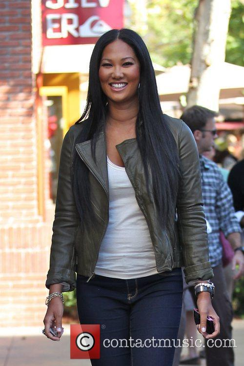 Kimora Lee Simmons shopping at The Grove after...