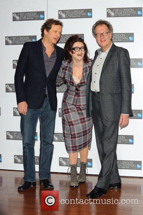Colin Firth , Helena Bonham Carter and Geoffrey...