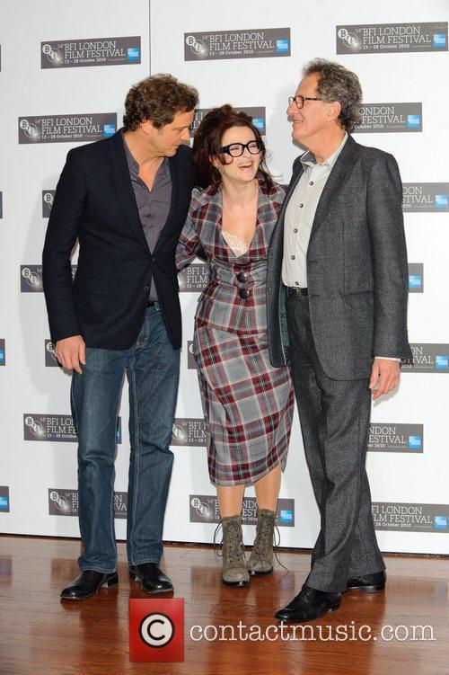 Colin Firth, Geoffrey Rush and Helena Bonham Carter 11