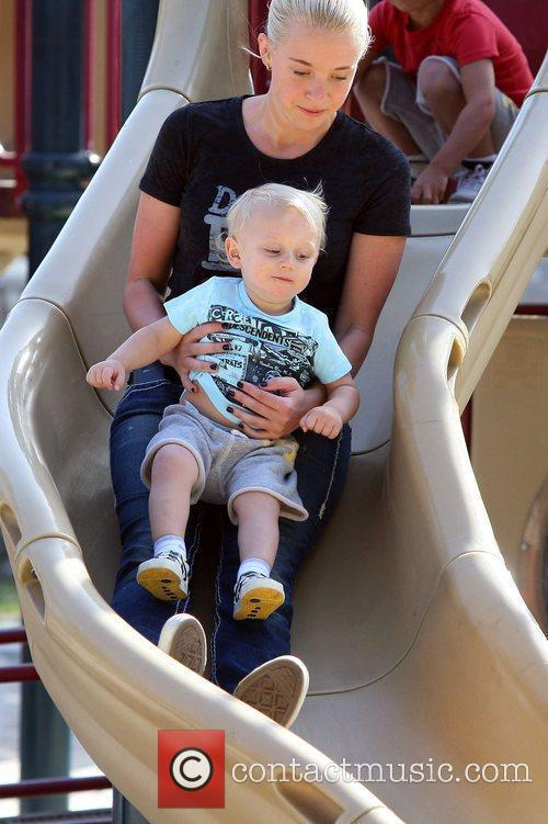 Zuma Rossdale enjoys some time at a park...