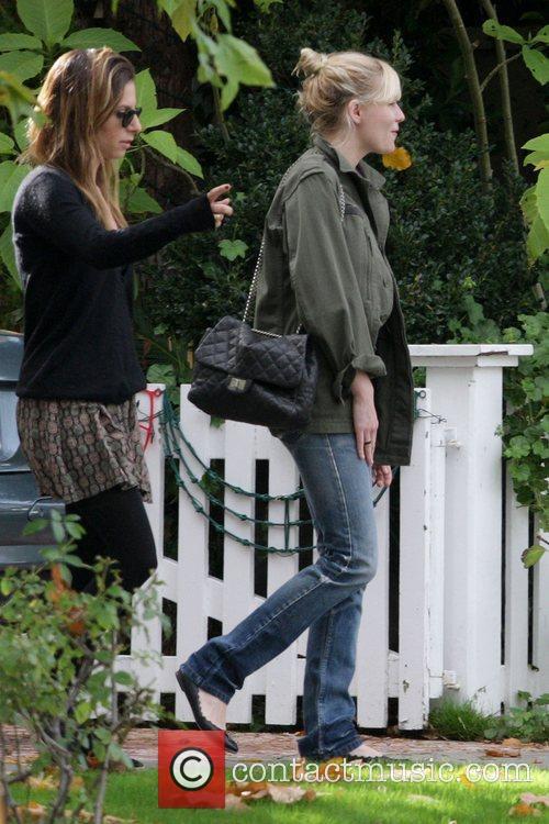 Kirsten Dunst leaving a friends house in Toluca...