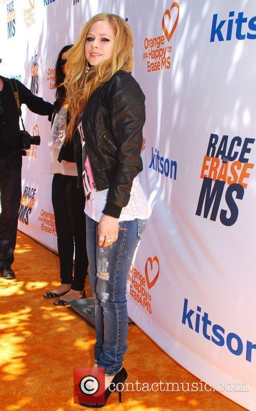 Avril Lavigne at the Orange MS Cure Benefit...